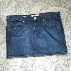 EUC Old Navy denim mini skirt